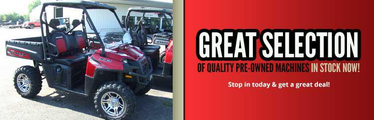 We have a great selection of quality pre-owned machines in stock now! Stop in today and get a great deal!