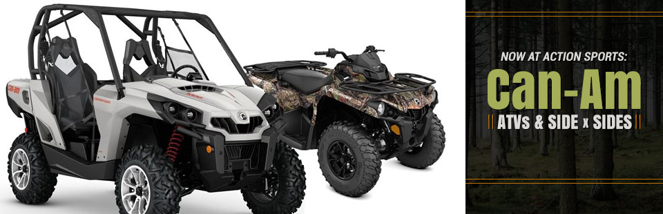 Can-Am ATVs & Side x Sides: Click here to view the models.