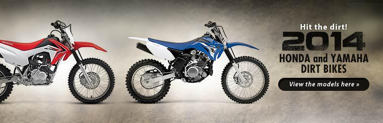 2014 Honda and Yamaha Dirt Bikes: Click here to view the models.