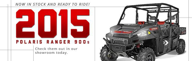 2015 Polaris Ranger 900 is now in stock and ready to ride.