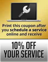 Print this coupon after you schedule a service online and receive 10% off your service!