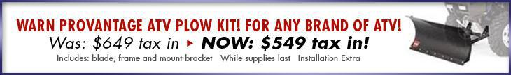 Warn Provantage ATV Plow Kit! For ANY brand of ATV!