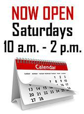 Now open Saturdays 10 a.m. - 2 p.m.