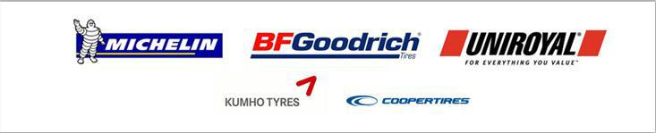 We carry products from Michelin®, BFGoodrich®, Uniroyal®, Cooper, and Kuhmo.