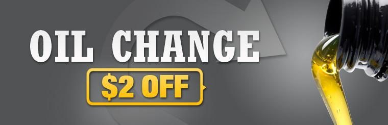 Click here for a coupon for $2 off an oil change.