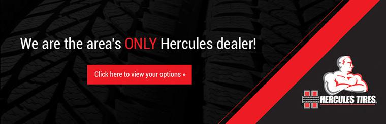 We are the area's only Hercules dealer! Click here to view your options.