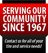Serving our community since 1967. Contact us for all your tire and service needs!