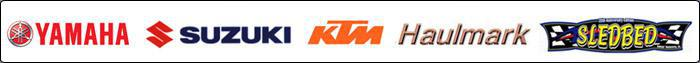 We carry products from Yamaha, Suzuki, KTM, Haulmark, and Sledbed.