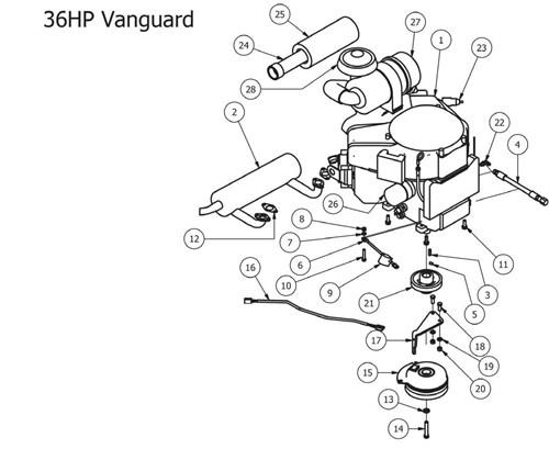 Bad Boy Outlaw Xp Vanguard Engine Clutch: Kawasaki Fs730v Engine Parts Diagram At Downselot.com