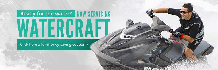 Now Servicing Watercraft: Click here a for money-saving coupon.