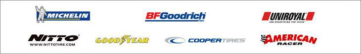 We proudly feature products from Michelin®, BFGoodrich®, Uniroyal®, Nitto, Goodyear, Cooper, and American Racer.