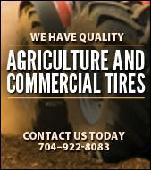 We have quality agriculture and commercial tires. Contact us today. 704–922-8083.