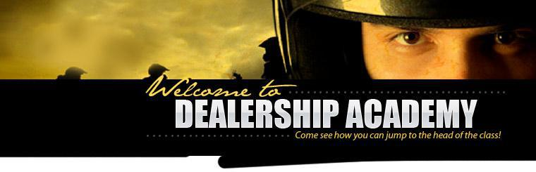 Welcome to Dealership Academy. Come see how you can jump to the head of the class!