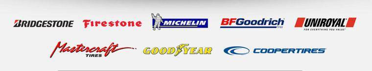 We proudly offer products from Bridgestone, Firestone, Michelin®, BFGoodrich®, Uniroyal®, Mastercraft, Goodyear and Cooper.