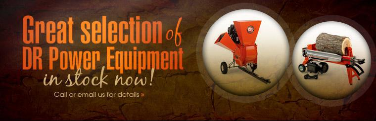 We carry a great selection of in-stock DR Power Equipment! Click here to contact us for more information.