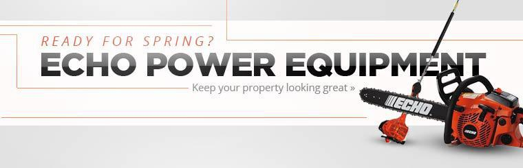 Keep your property looking great with ECHO power equipment.