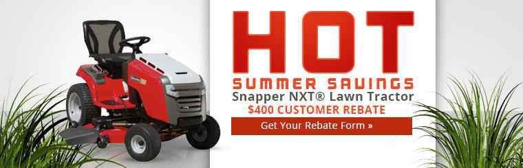 Snapper NXT® Lawn Tractor $400 Customer Rebate: Click here to get your rebate form!