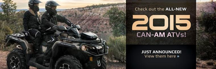 Check out the all-new 2015 Can-Am ATVs!
