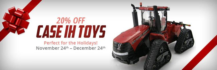 Get 20% off Case IH toys November 24th through December 24th!