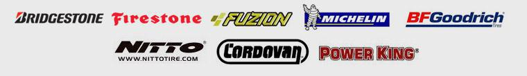 We carry great products from Bridgestone, Firestone, Fuzion, Michelin®, BFGoodrich®, Nitto, Cordovan, and Power King.