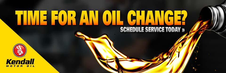 Is it time for an oil change? Schedule service today!