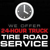 We Offer 24-Hour Truck Tire Road Service Contact Us for Details »
