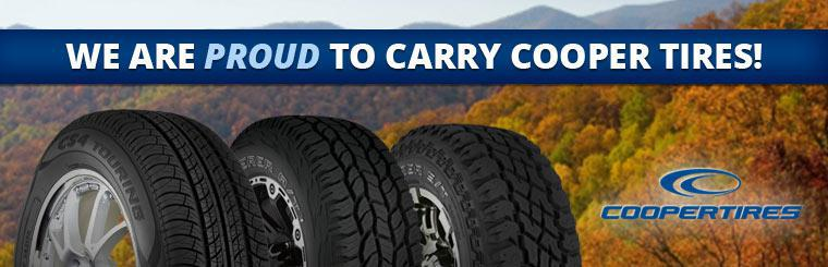 We are proud to carry Cooper Tires.