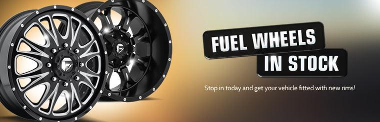 Fuel Wheels in Stock: Stop in today and get your vehicle fitted with new rims!