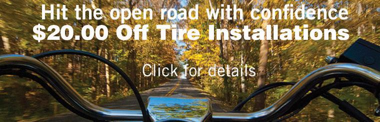 $20 Off Tire Installation