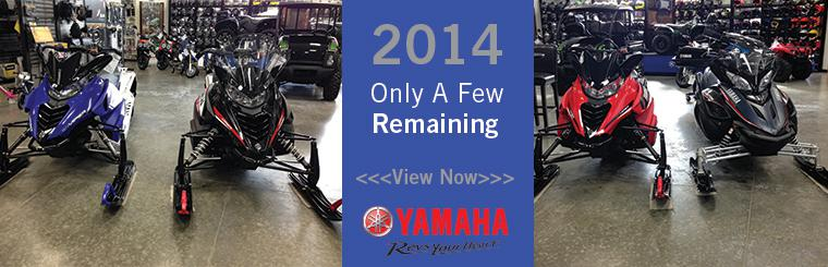 2014 Yamaha Snowmobiles remaining
