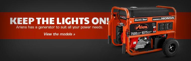 Ariens has a generator to suit all your power needs.