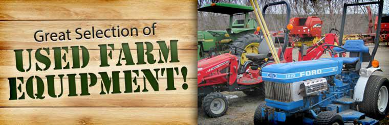 We have a great selection of used farm equipment! Click here to browse our inventory.