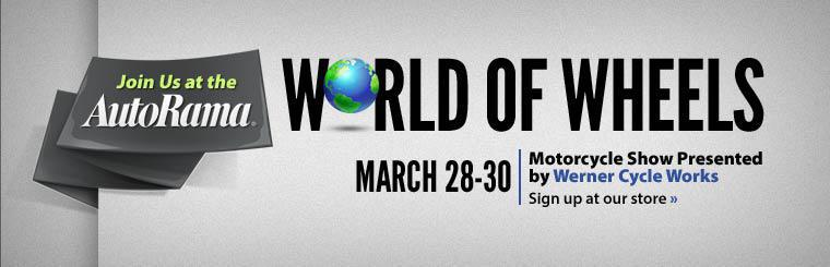 Join us at the AutoRama for World of Wheels! Sign up at our store.