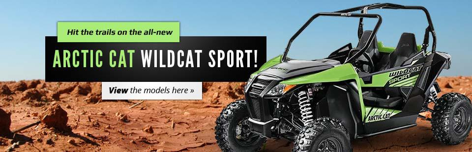 Hit the trails on the all-new Arctic Cat Wildcat Sport!