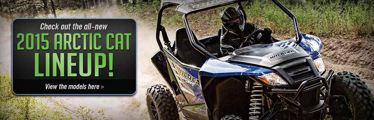 Check out the all-new 2015 Arctic Cat side x side lineup!