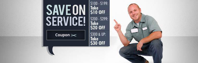 Save on Service: Click here to print the coupon.