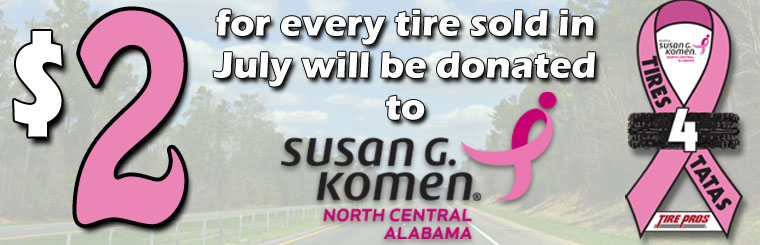 $2 Of Every Tire Sold in July Goes to Breast Cancer Research