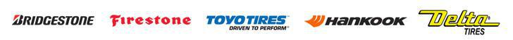 We offer products from Bridgestone, Firestone, Toyo, Hankook, and Delta.