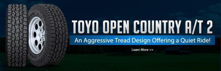 Click here to learn more about the Toyo Open Country A/T 2 tire.