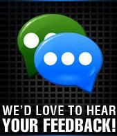 We'd love to hear your feedback!