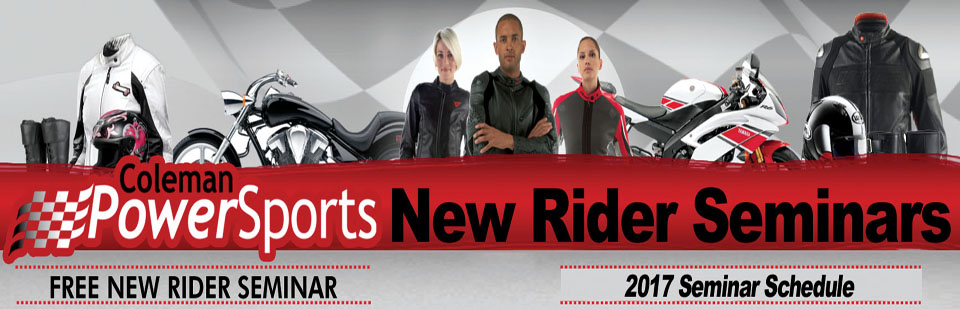 Click here to sign up for our new rider seminars