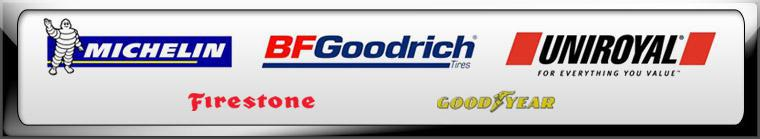 We proudly carry products from Michelin®, BFGoodrich®, Uniroyal®, Firestone, and Goodyear.