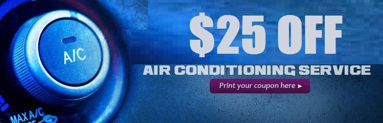 Get $25 off air conditioning service! Click here to print your coupon.