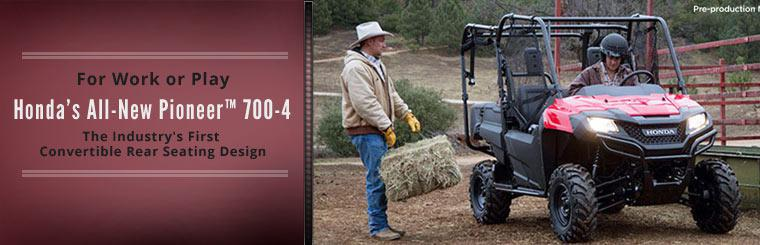 Check out Honda's all-new Pioneer™ 700-4.