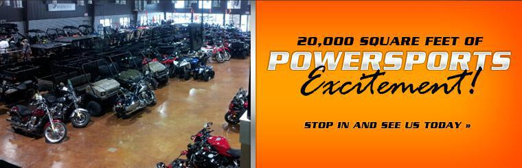 20,000 square feet of powersports excitement! Click here to contact us.