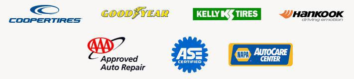 We carry products from Cooper, Goodyear, Kelly, and Hankook. We are an AAA Approved Auto Repair facility. Our technicians are ASE certified. We are a NAPA AutoCare Center.