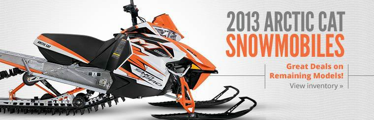 Get great deals on remaining 2013 Arctic Cat snowmobiles! Click here to view our inventory.