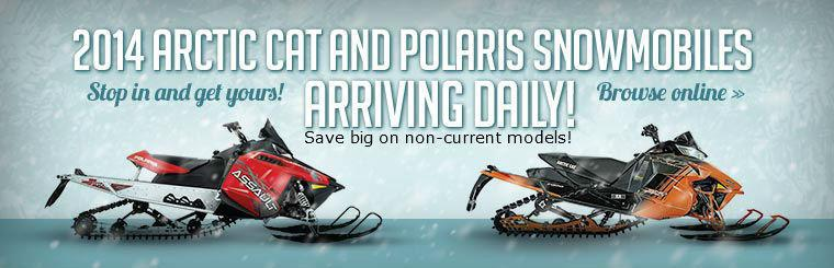 2014 Arctic Cat and Polaris Snowmobiles