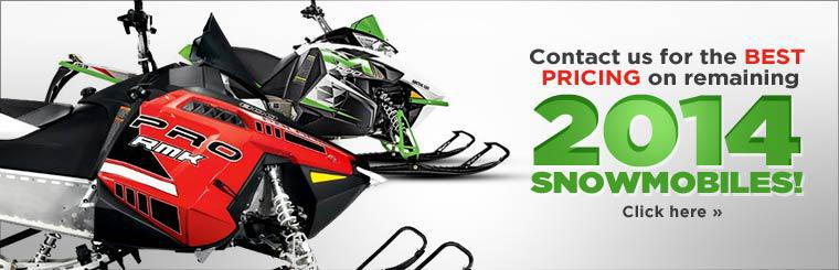 Contact us for the best pricing on remaining 2014 snowmobiles!
