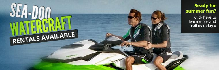 Sea-Doo watercraft rentals are available. Click here to learn more and call us today.